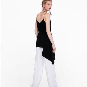 Zara small black asymmetrical top. Tags still on!